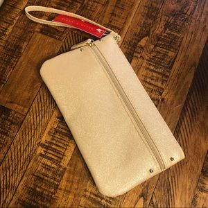 Gold wristlet with charging bank NWT
